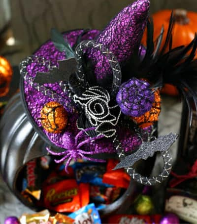 Witch Pumpkin Candy Holder