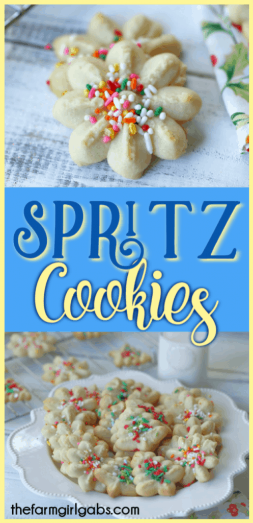 These classic Spritz Cookies are rich, buttery and a must-have cookie for Christmas. Rumor has it that they are Santa's favorite too. #SpritzCookies #ChrismtasCookies #CookieRecipe #holidaybaking #holidayrecipes #Christmascookieexchange #Christmascookierecipe