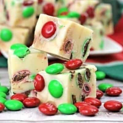 'Tis the season for some sweet treats. This festive 3-Ingredient Holiday Fudge only takes a few ingredients and a few minutes to make and is so delicious!