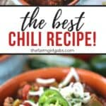 From game day to snow day, this Easy Classic Chili recipe is the perfect comfort food. This best homemade chili recipe is loaded with beef, beans and lots of zesty flavor.