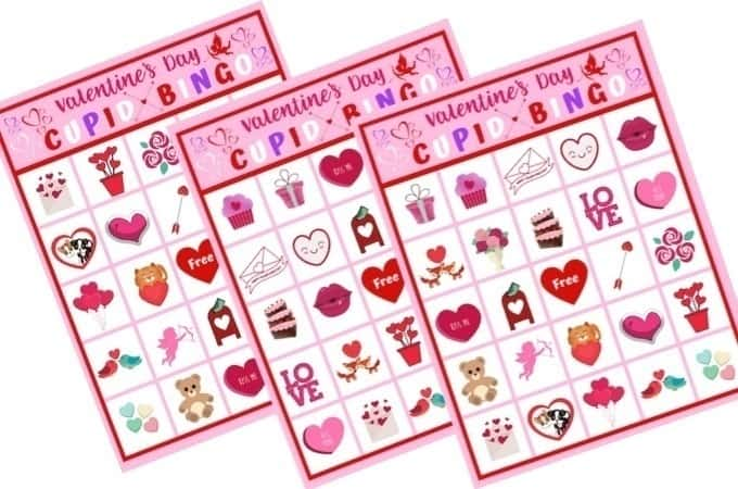 These free Valentine's Day Cupid Bingo cards are perfect for kids to play at home or classroom parties. Download and print yours today for some Valentine's Day fun!