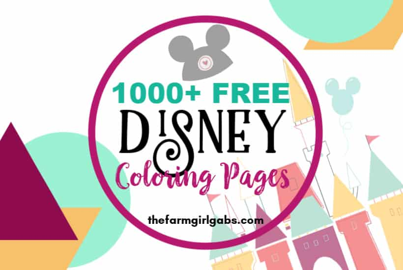 - 1000 Free Disney Coloring Pages For Kids