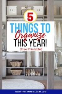 Start the year off on the right note. Here are 5 Things To Organize In The New Year Plus A Free Daily Planner To Keep You Organized. These home organization tips will give you a fresh start for the New Year! #homeorganization #mariekondo #kitchenorganization