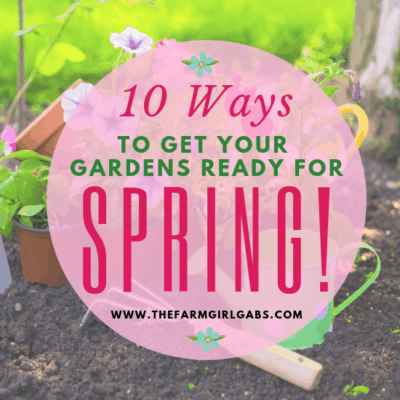 Spring is almost here. Check out these 10 Ways To Get Your Gardens Ready For Spring!