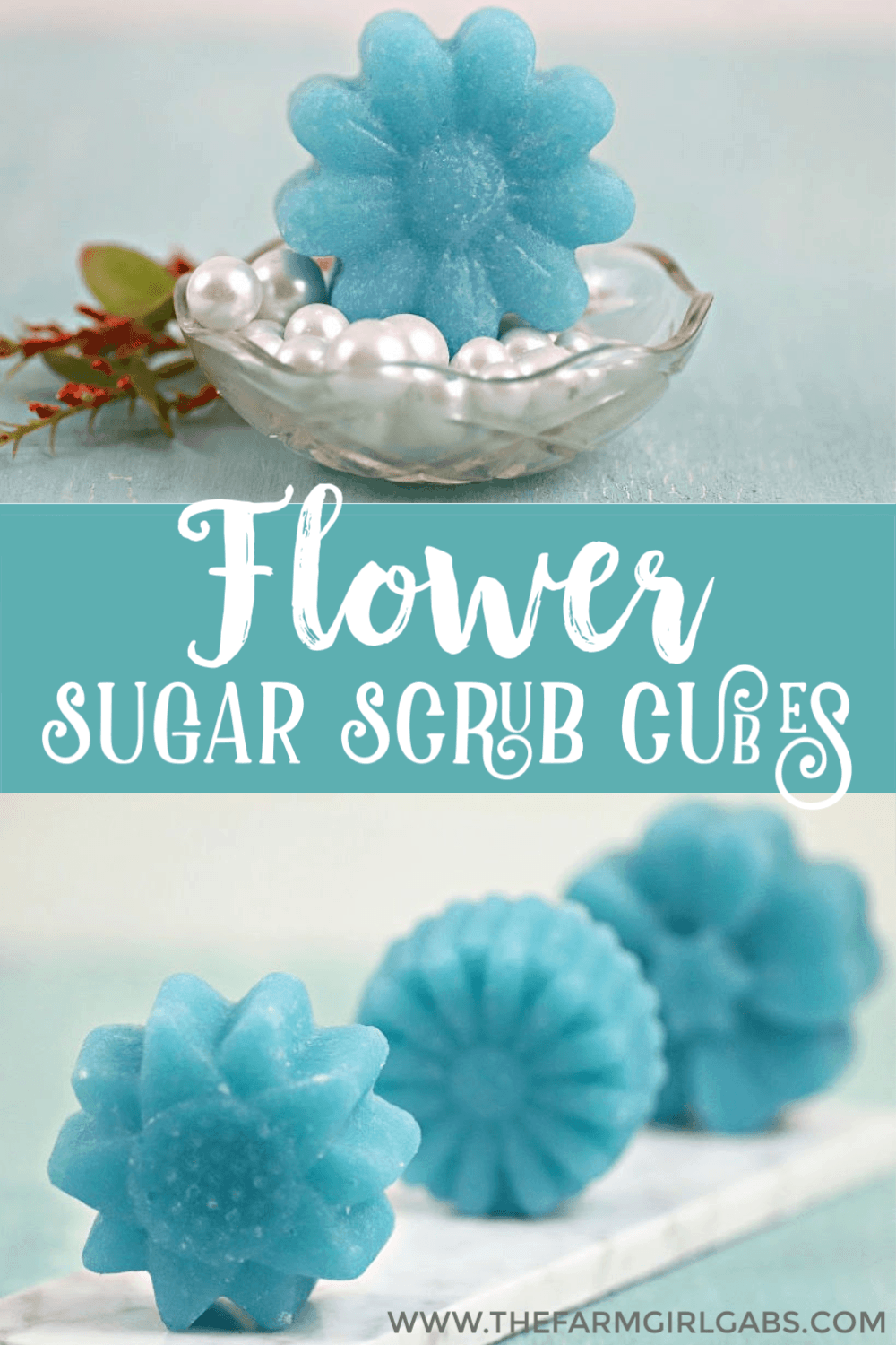 It's a self-care kind of day. Pamper yourself and whip up a batch of these DIY Flower Sugar Scrub Cubes made with Essential Oils. Keep them for yourself of give the gift of pampering. #essentialoils #sugarscrub #sugarscrubcubes