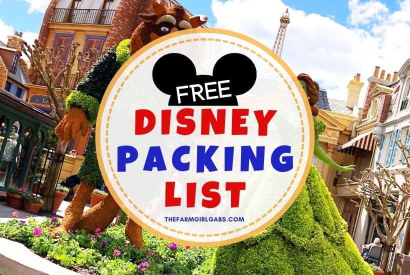 Free Walt Disney World Packing List