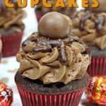 Chocolate lovers unite! These decadent Chocolate Ganache Cupcakes are the perfect chocolate cupcake recipe. #ChocolateCupcakes #Cupcakes Valentine's Day Cupcake