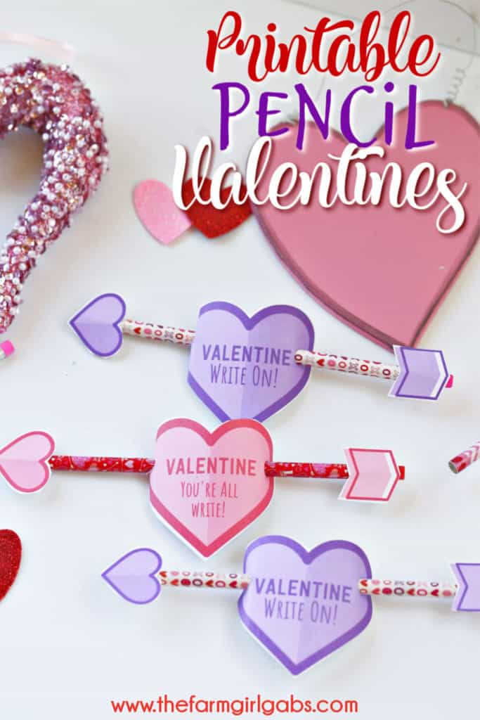 Tell your Valentines they are all right (or is it write?) with these adorable Cupid's Arrow Printable Pencil Valentines. These DIY Valentine's Day cards are fun for the kids to make. #ValentineCards #KidsCrafts