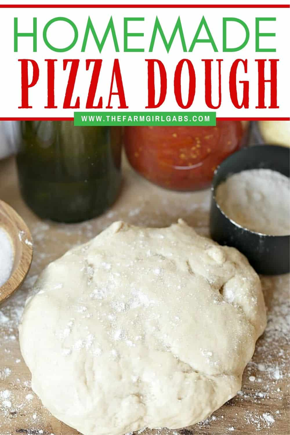 Make any night pizza night! With a few simple ingredients, this Best homemade Pizza Dough recipe is perfect for a tasty homemade pizza dinner at home. #pizzadough #pizzarecipe