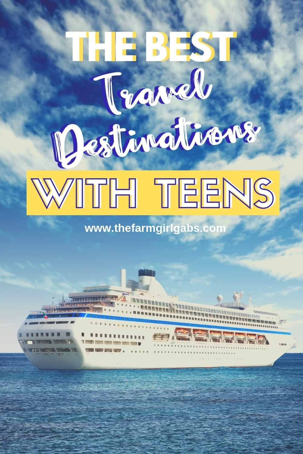 Want to cross a few places off your family bucket list this summer? If you are traveling with teens, check out these Best Travel Destinations With Teens #familytravel #teenagers #parentingteens #travel #luxurytravel