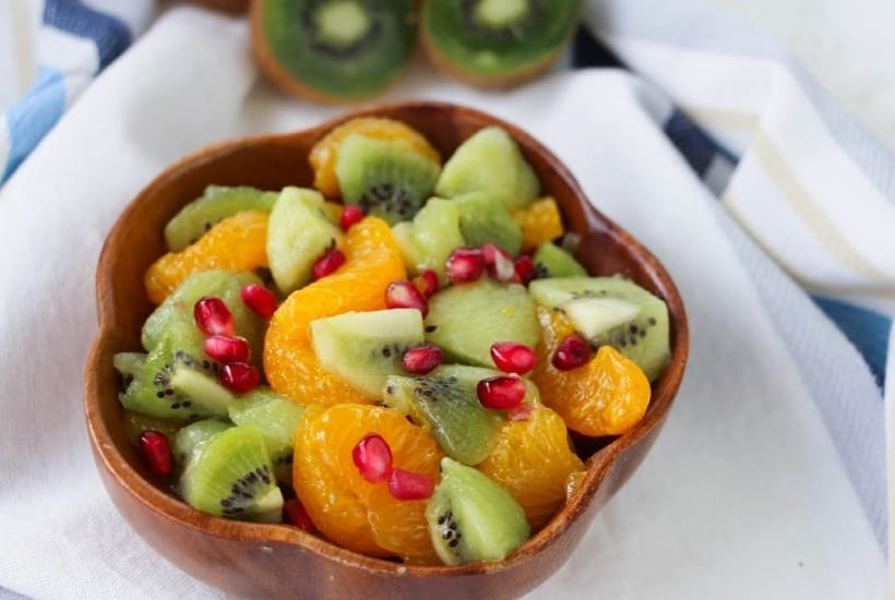 Kiwi Fruit Salad With Honey Citrus Dressing