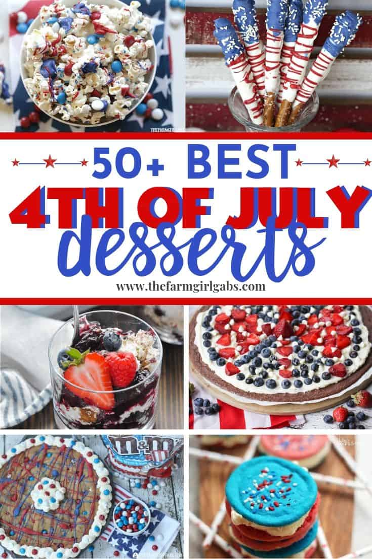 No patriotic celebration is complete without an easy dessert recipe. If you are celebrating the 4th of July or Memorial, be sure to make one of these delicious red, white and blue dessert recipes.