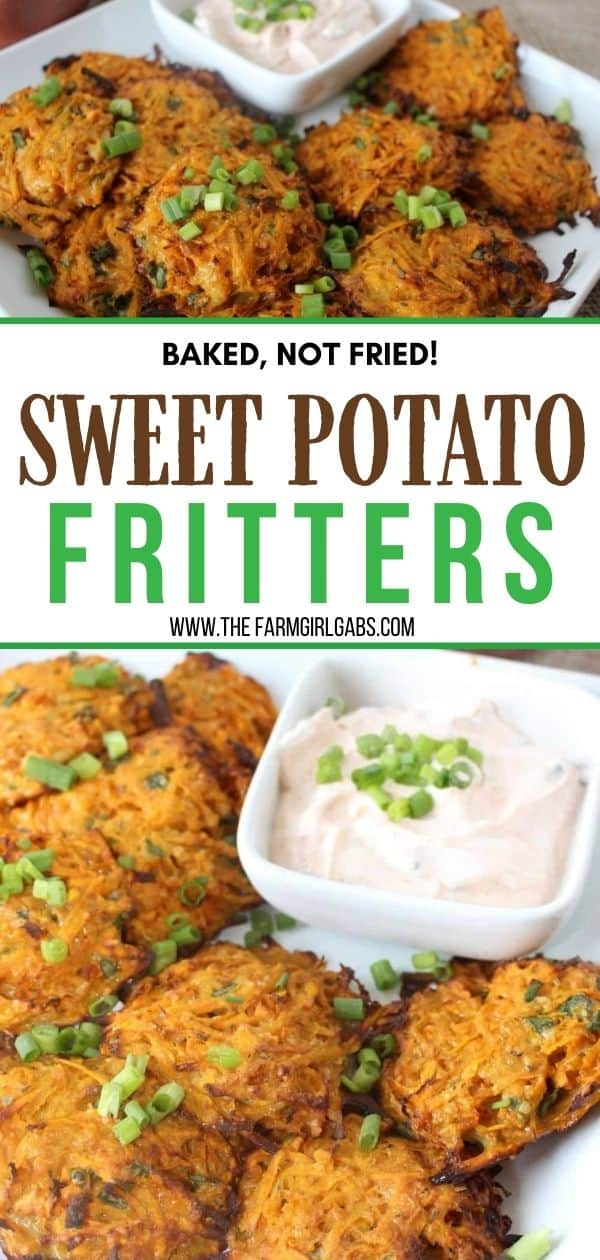 Sweet potatoes are a nutritional powerhouse. Try this easy sweet potato recipe for a healthier side dish. Baked sweet potato fritters are a delicious and healthy recipe. This easy fritter recipe is a perfect side dish or appetizer.