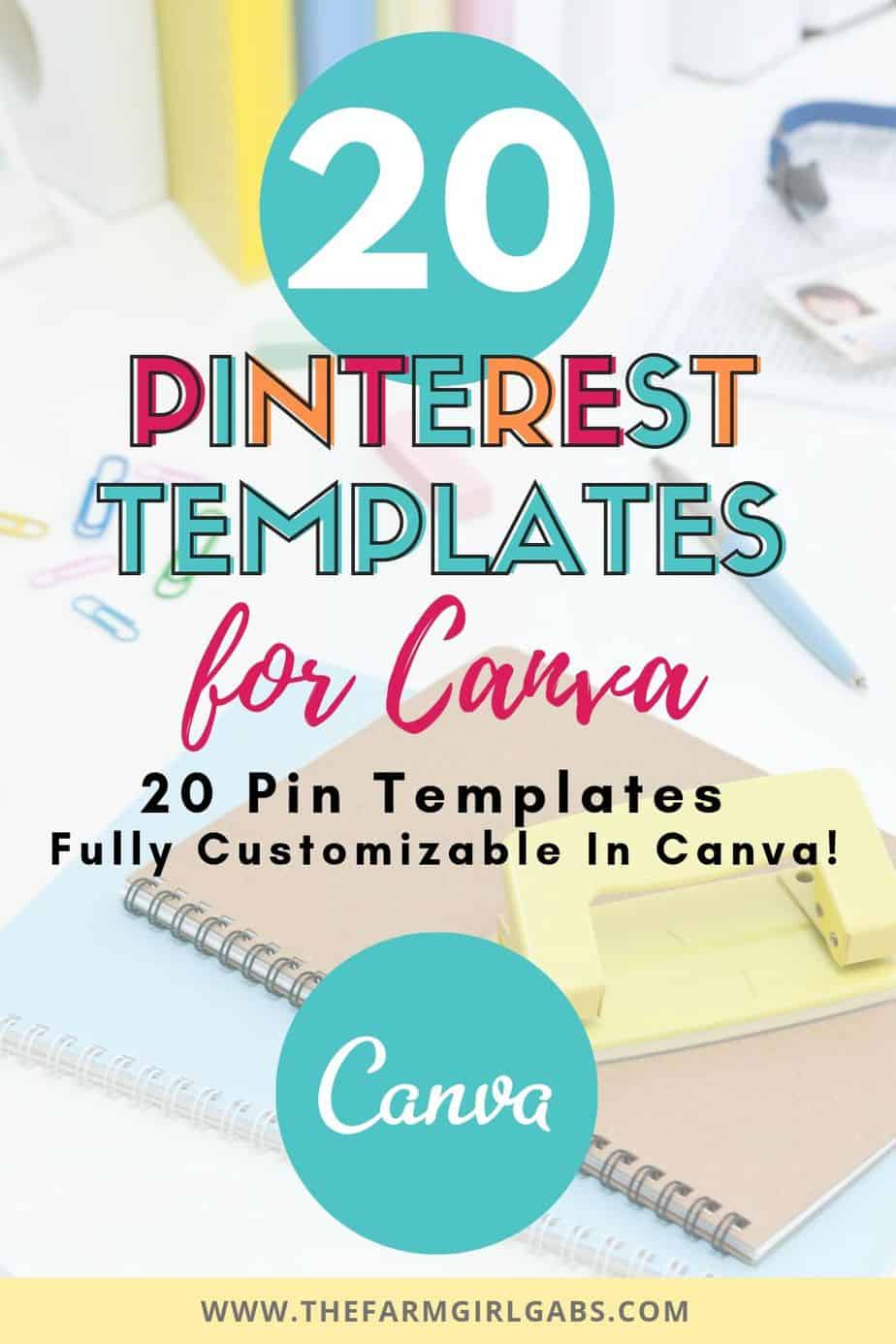 Want to conquer the creative Pin game but don't have the time? These 14 Canva Templates for Pinterest are fully editable in Canva and can be customized to fit your business or blog.