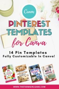 Want to conquer the creative Pin game but don't have the time? These Canva Templates for Pinterest are fully editable in Canva and can be customized to fit your business or blog. #pinteresttemplate #canvatemplate #socialmedia