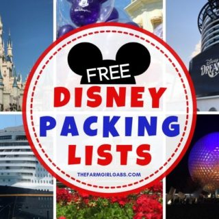 Don't forget the essentials! These Disney Packing Lists will help you prepare for your upcoming Disney vacation! Download and print these helpful Disney Lists before you start packing more fun.
