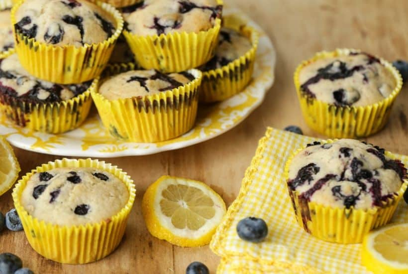 Sweet farm-fresh blueberries and tart lemons pair up for these delicious Lemon Blueberry Muffins. This easy recipe is perfect for breakfast or dessert.