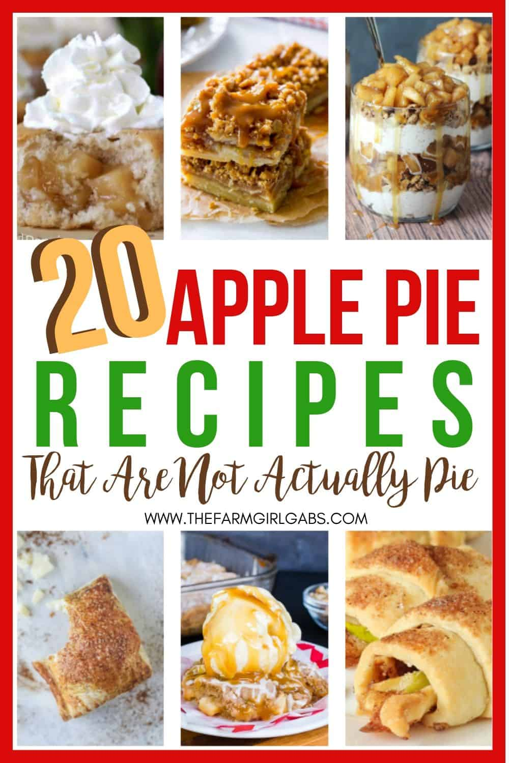 Celebrate fall's favorite fruit with these Apple Pie Desserts That Aren't Actually Pie. Try one of these delicious apple recipes instead of a traditional apple pie. #appledesserts #fallrecipe #applepie
