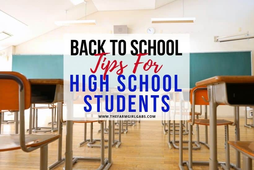 Back to School Tips For High School Students
