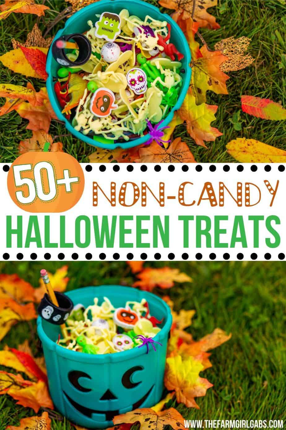 Skip the candy this Halloween! Here are some Non-Candy Halloween Treats you can hand out to trick or treaters instead. #Halloweentreats #noncandytreats #tealpumpkinproject