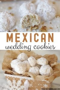 Whether you call them Mexican Wedding Cookies, Russian Tea Cakes or Snowball Cookies, these delicate buttery cookies, rolled in powdered sugar (with many different names) are a staple each year at Christmas. This easy 6-ingredient Christmas cookie is versatile too. Change up the flavoring or add-in ingredients and create a whole new cookie recipe. #mexicanweddingcookies #ChristmasCookies #cookierecipe #RussianTeaCakes
