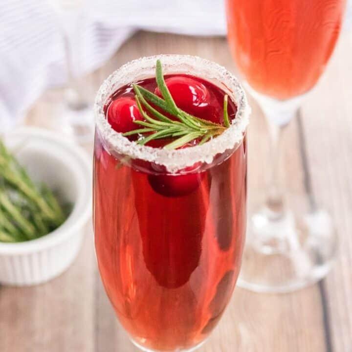 Refreshing Cranberry Mimosa