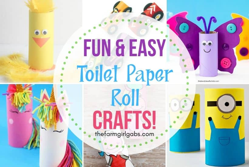 Easy Toilet Paper Roll Crafts For Kids