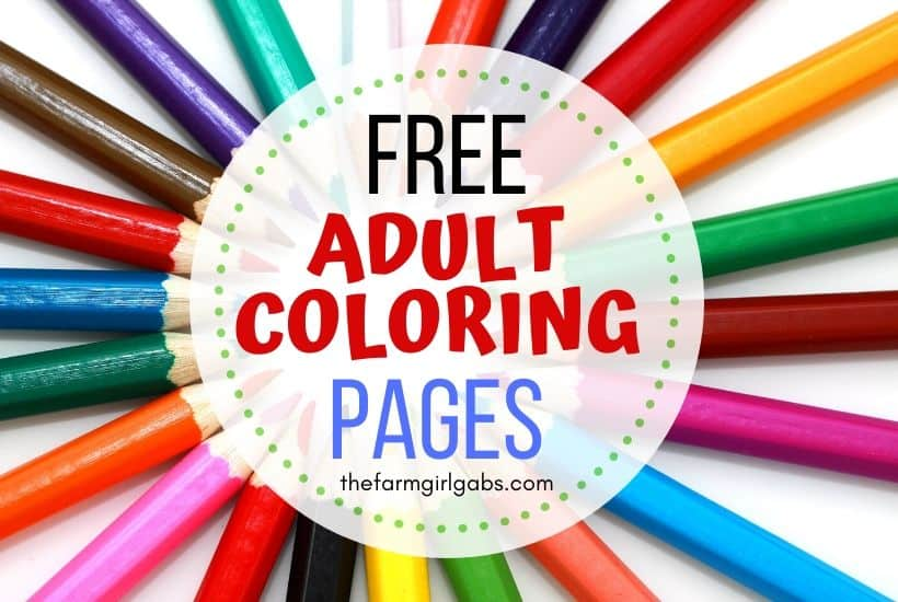 Free Printable Adult Coloring Pages - The Farm Girl Gabs®