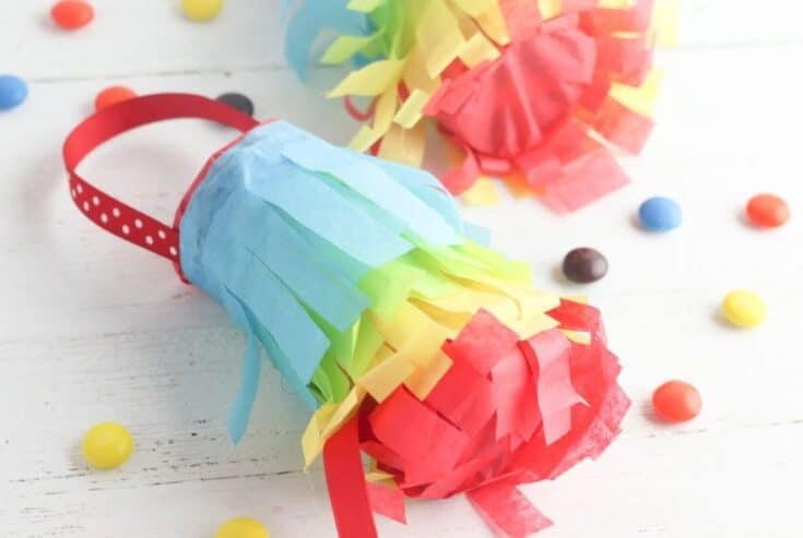 Extra toilet paper rolls in the house? I bet! These DIY Toilet Paper Roll Pinatas are a fun kid's craft to make for your next Cinco de Mayo fiesta.