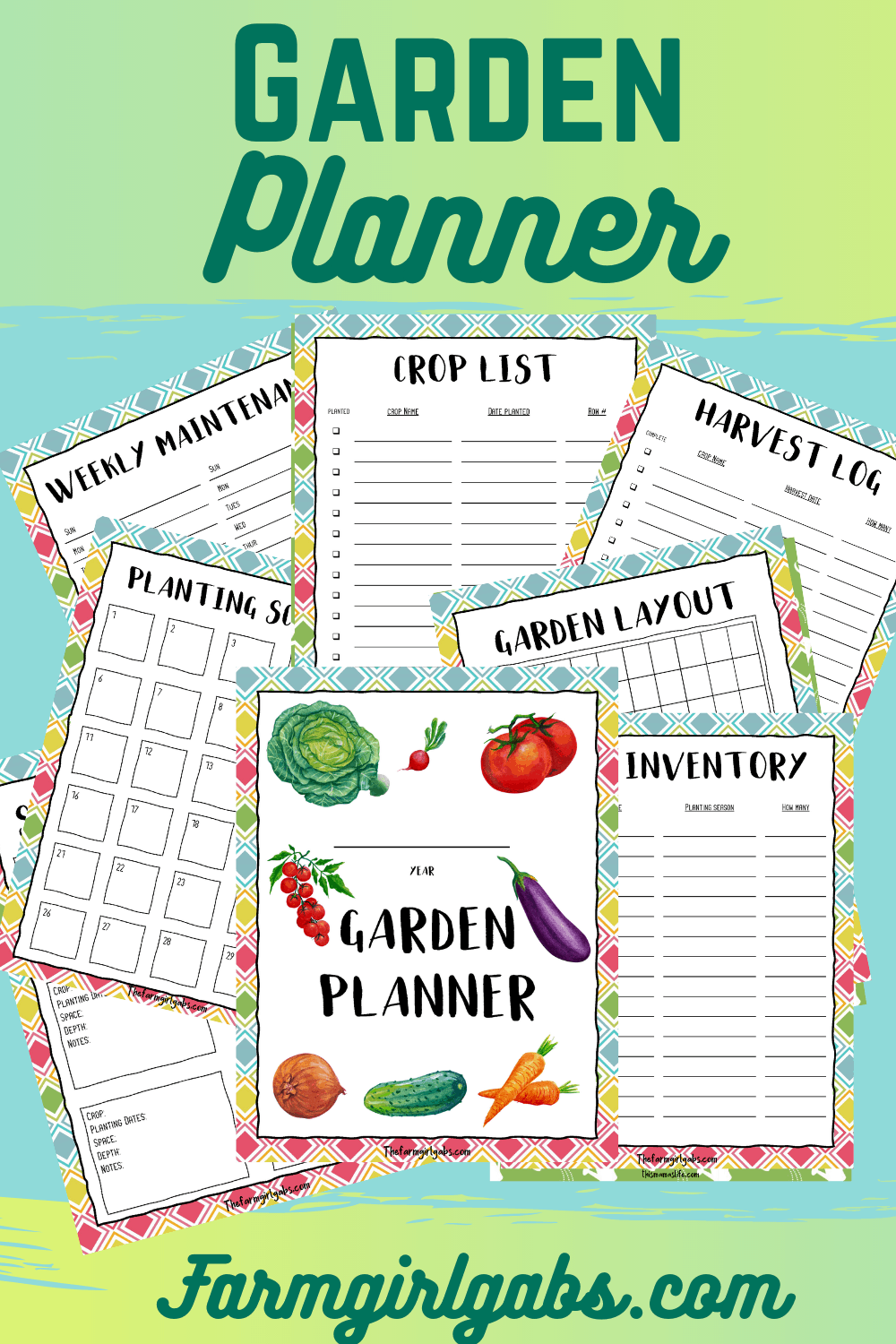 Ready, set, dig! This Ultimate Printable Garden Planner will help you plan your vegetable garden for the season. This gardening guide will help you plan your garden from start to finish.