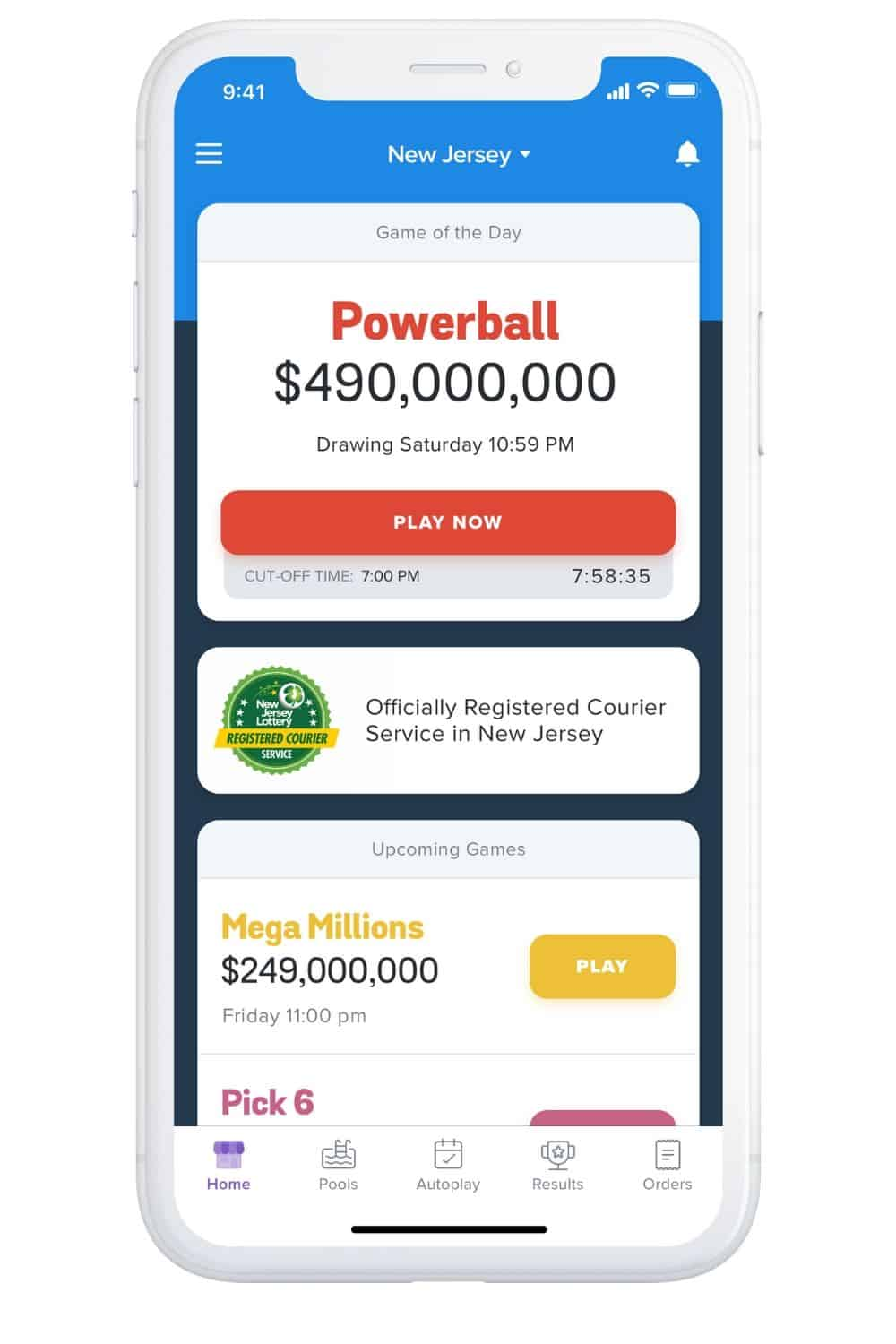 Download the Jackpocket app and play the New Jersey Lottery from the comfort of home. Stay Home and Win With Jackpocket.
