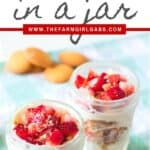 Raise your hand if you love easy no-bake dessert recipes? These No-Bake Strawberry Cheesecake Parfaits are an easy dessert recipe the whole family will love. Bonus points for serving them in cute mason jars!