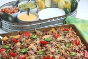 When craving a plate of loaded nachos with a twist, this is the recipe for you. Nacho Fries are so easy to make and are loaded with lots of wholesome flavors. You can make this dish as an appetizer, the main course, or even a special dish for a potluck.