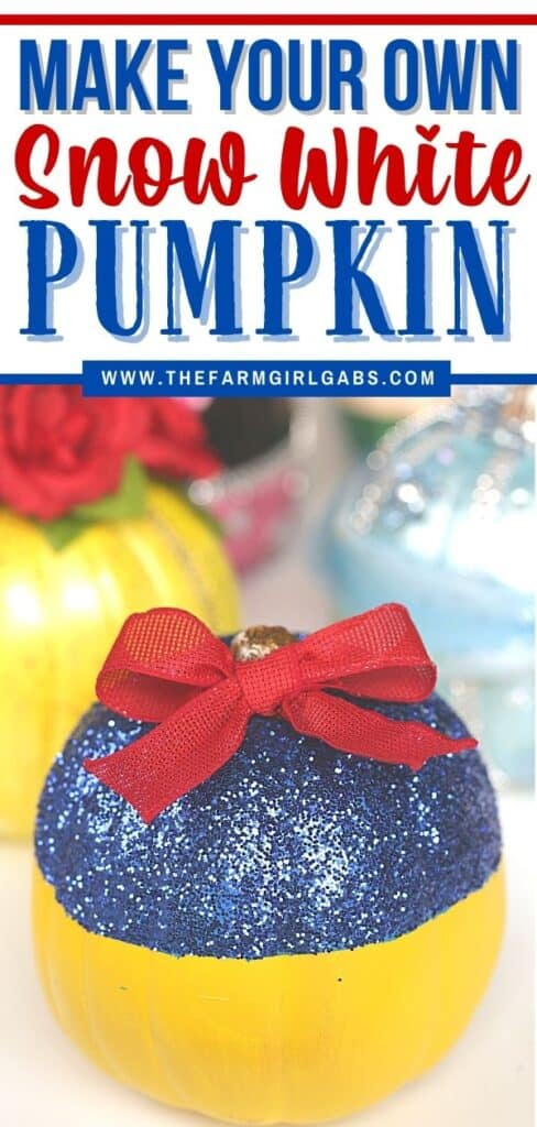 This no-carve Disney Snow White Pumpkin really is the fairest of them all. This easy no-carve pumpkin is a fun Halloween craft for kids. If you love Disney Princesses, then this is a really easy and fun Disney craft to make. Kids will love making this pumpkin craft for Halloween.
