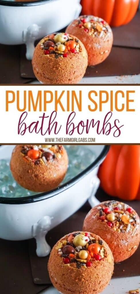 Pumpkin Spice Bath Bombs - Long Pin