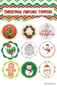 Christmas Cupcake Toppers Printable
