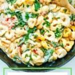 Creamy Tortellini Skillet pasta