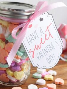 Mason Jar Valentines With Printable Gift Tags
