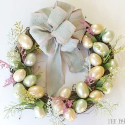 Easter Egg Wreath DIY Dollar Store Craft