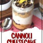 Cannoli Cheesecake Jars pin