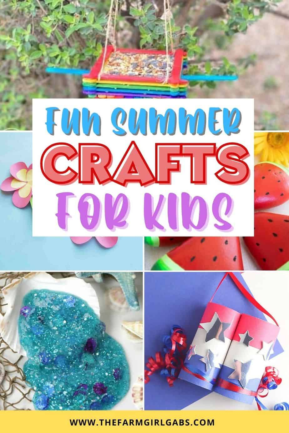 Cure summer boredom. This list of top Summer Kids Crafts will keep the littles will keep your children busy and entertained all summer long!
