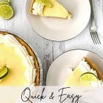 You can't go wrong with a classic key lime pie. A simple and tasty dessert, perfect for a hot summer day, Quick and Easy Key Lime Pie is a make-ahead dream. The tart and sweet combination is sure to be a winner. This summer pie recipe has the perfect balance of sweetness and key lime flavor. This is an easy summer dessert recipe to bring to a picnic or summer potluck.