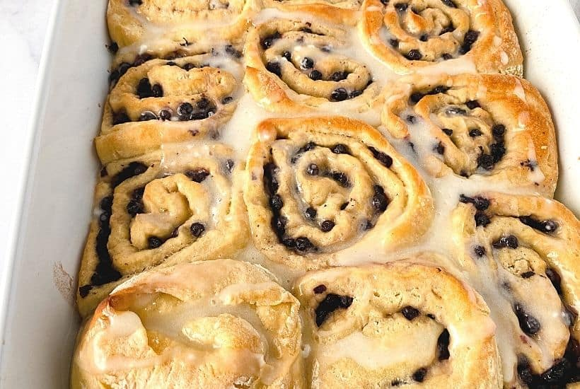 Love the tangy taste of lemon with blueberries? If so, these Lemon Blueberry Rolls will quickly become your next favorite sweet treat because of their amazing flavor.