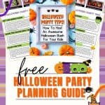 Want to be the perfect ghost host? Party planning doesn't have to be complicated. Download this FREE eBook for all the Halloween party planning tips! This Halloween printable will help you plan a spooktacular Halloween Party for kids. It's filled with tips and tricks for planning a fun party.