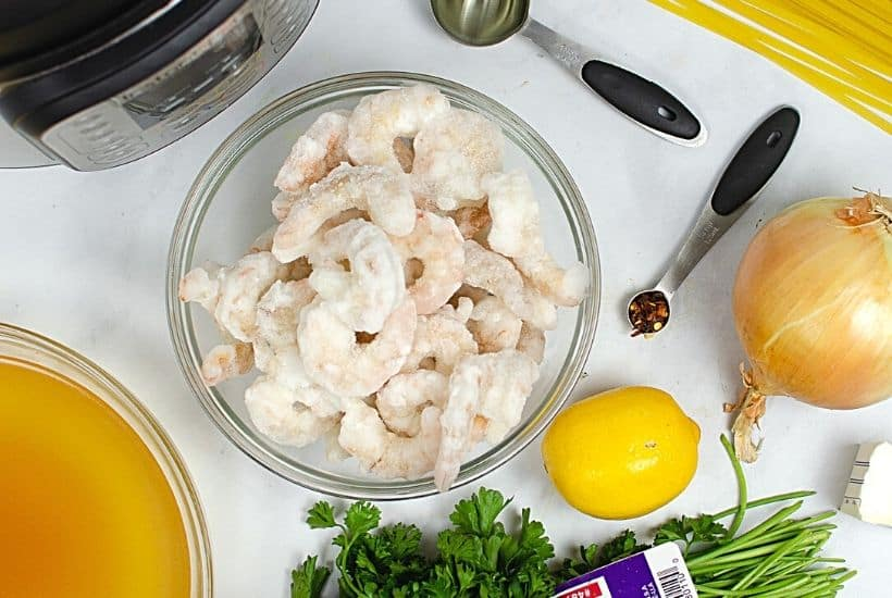 Prepare the perfect dinner with ease using this Instant Pot Shrimp Scampi recipe. Serve it over fettuccine noodles and a side salad to complete the meal. This easy instant pot recipe is a perfect weeknight meal idea. Try this easy Italian recipe.